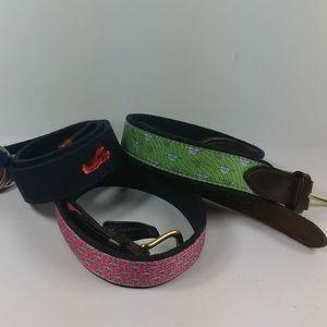 VINEYARD VINES package of three belts for boy
